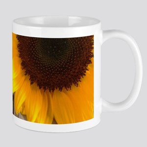 rustic barn yellow sunflower Mugs